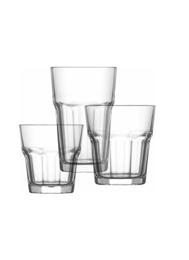 Lav Aras Su Bardak Seti 18 Prç Su Meşrubat Bardağı Takımı Renkli